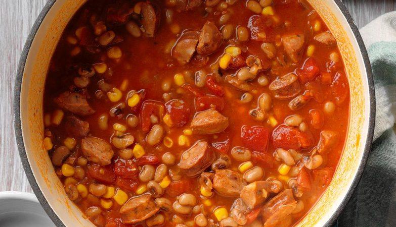 Súp đậu trắng cà chua